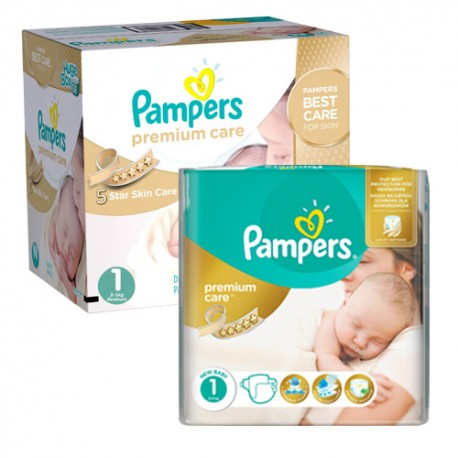 Pampers - Mega pack 132 Couches New Baby Premium Care taille 1 sur Couches Poupon